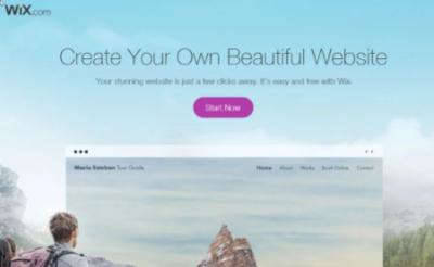 wix landing page