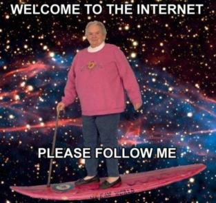 old lady welcome to the internet