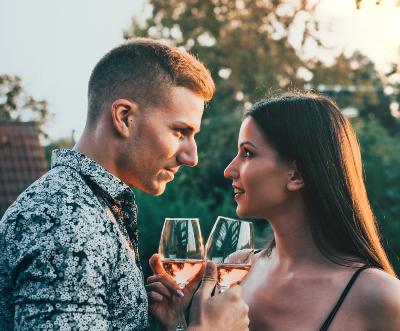 man woman dating
