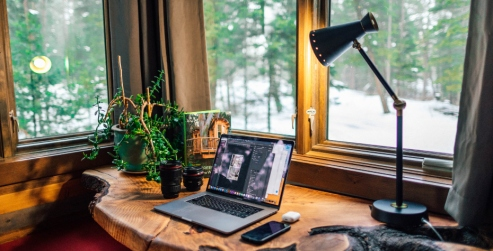 home office wood lamp