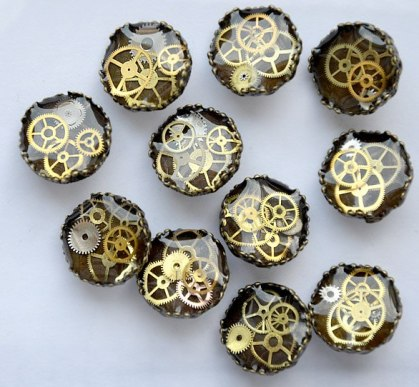 steampunk buttons content writing