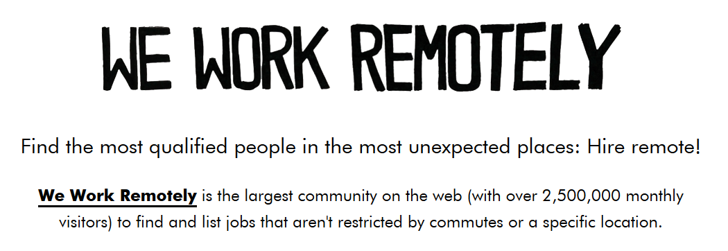 We Work Remotely – A Jobseeker's Review