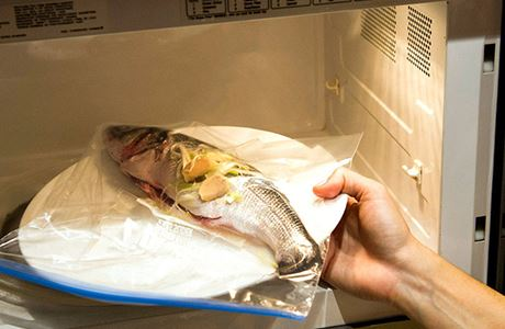 fish in microwave