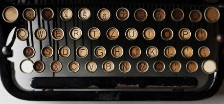 mobile office typewriter keyboard