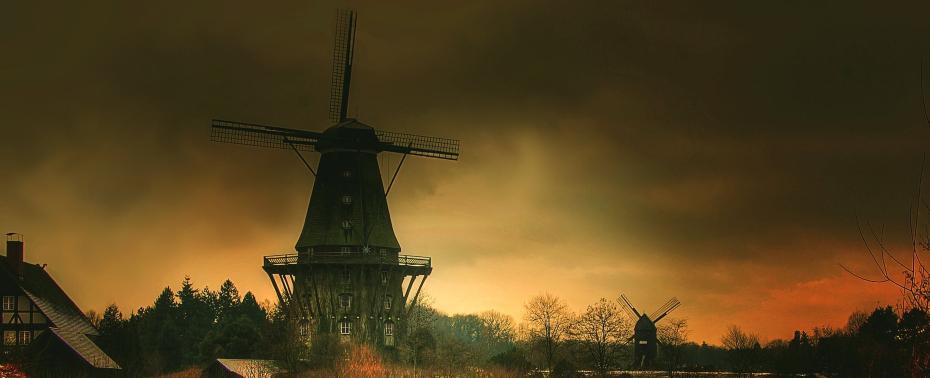 dark windmill