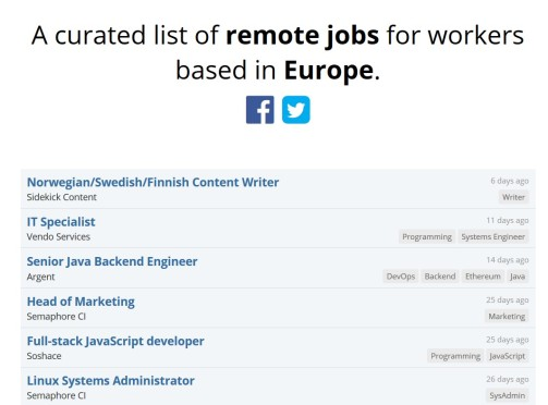 europe remotely first page